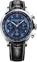 Baume & Mercier Men's Swiss Automatic Chronograph Capeland Black Leather Strap Watch 44mm M0A10065
