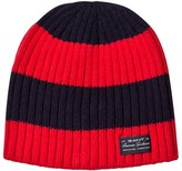 Gant Navy and Red Striped Beanie