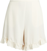 See by Chloe Ruffled-hem crepe shorts