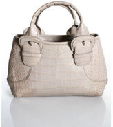 Cole Haan Light Pink Embossed Leather Satchel Handbag