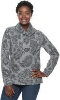 Croft & Barrow Women's Shawl Collar 1/4-Zip Jacquard Sweatshirt