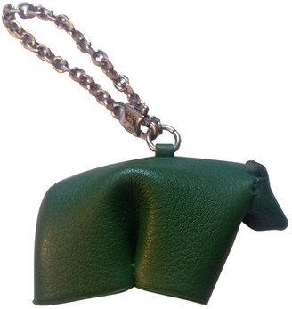 Loewe Green Leather Bag charms