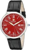Steinhausen Men's GWL493SRLA Dunn Luxe Analog Display Swiss Quartz Black Watch