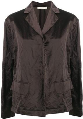Odeeh Crinkled Effect Flap Pocket Blazer