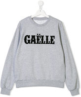 Gaelle Paris Kids sweatshirt with appliqué