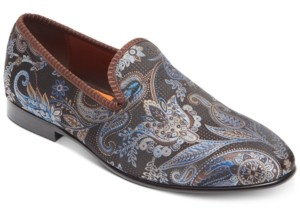Tallia Men's Enrico Brocade Smoking Slippers Men's Shoes