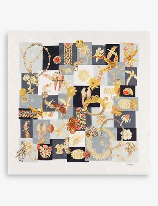 Cartier Precious printed silk scarf