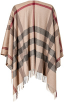 Burberry Wool-Cashmere St. Collet Checked Check Wrap in Smoked Trench