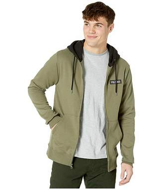 Volcom Supply Stone Full Zip Hoodie (Army Green Combo) Men's Clothing