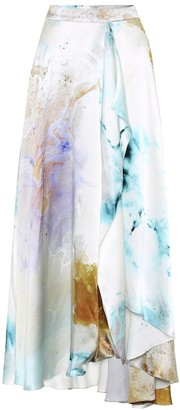 Roksanda Zinja printed high-rise silk skirt
