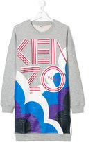 Kenzo graphic logo print dress