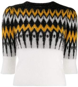 Laneus patterned chest jumper