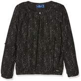 Tom Tailor KIDS Girl's printed blouse Blouse, Black (black)