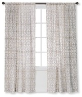 Threshold Flocked Scroll Curtain Panel