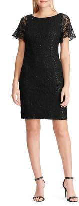 Chaps Embellished Lace Dress