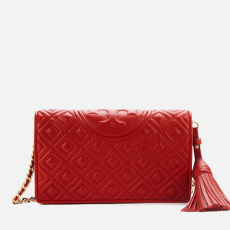 Tory Burch Women's Fleming Wallet Cross Body Bag - Red Apple