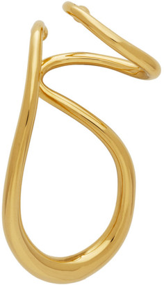 Charlotte Chesnais Gold Drop Single Ear Cuff