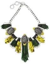 Forest of Chintz Disco Jungle Green Gold Fringe Necklace