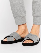 Asos NEW YORK Padded Loungewear Slippers