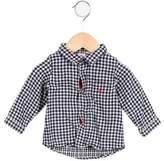 Petit Bateau Boys' Gingham Long Sleeve Shirt