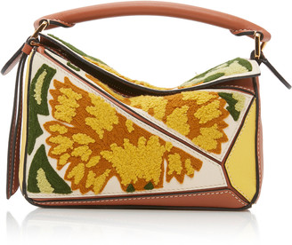 Loewe Puzzle Mini Embroidered Leather Shoulder Bag