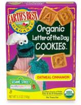 Earth's Best Organic 5.3 oz. Sesame Street Letter of the Day Oatmeal Cinnamon Cookies