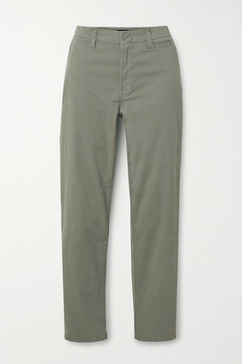 J Brand Ollie Cotton-blend Twill Pants - Gray green