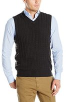 Dockers Soft Acrylic Solid Cable Links-Vest