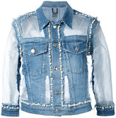 Aviu denim pearl-embellished jacket