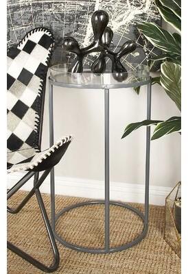 Orren Ellis Ariha Metal and Acrylic Tray Table