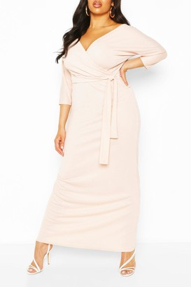 boohoo Plus Wrap Bodice Maxi Dress