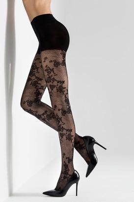 Natori Scarlet Lace Sheer Tights
