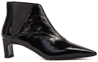 McQ Black Metta Chelsea Patent Leather Ankle Boot
