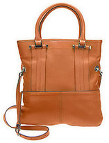 B. Makowsky As Is Glove Leather Fold Over Magazine Tote