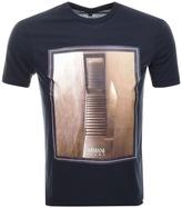 Giorgio Armani Jeans Crew Neck Graphic T Shirt Blue