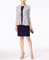 Jessica Howard Printed Sequined Jacket and Sheath Dress