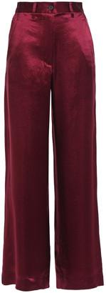Ann Demeulemeester Crinkled-satin Wide-leg Pants