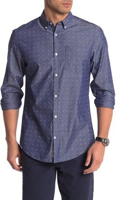 Original Penguin Geometric Print Trim Fit Shirt