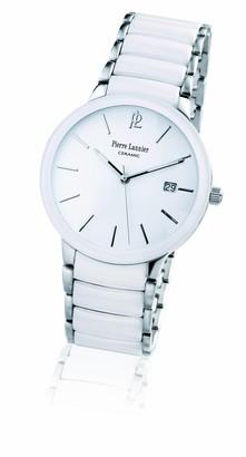 Pierre Lannier 255C100 - Men's Quartz Analogue WatchWhite DialSteel and White Ceramic Strap