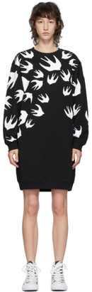 McQ Black Swallows Sweater Short Dress
