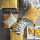 Williams-Sonoma Williams Sonoma Suede Cutwork Pillow Cover, Sunshine