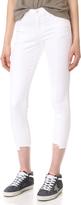J Brand Mid Rise Pintuck Skinny Jeans