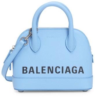 Balenciaga Extra Extra-Small Ville Leather Top Handle Bag