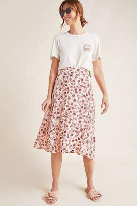 Faithfull The Brand Valois Floral Wrap Skirt