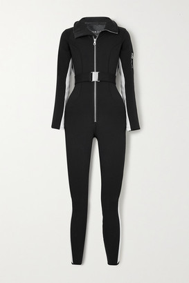 Cordova Signature In The Boot Belted Striped Ski Suit - Black
