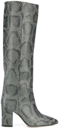 Paris Texas Snakeskin Print High Boots