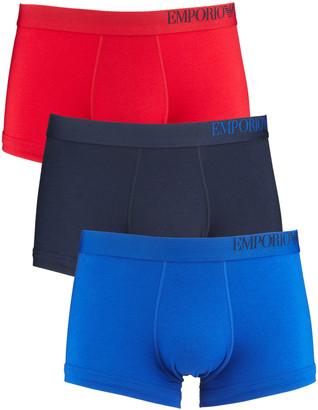 Emporio Armani Men's Multicolor 3-Pack Stretch Cotton Boxer Briefs