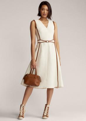 Ralph Lauren Channing Belted Day Dress