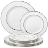 Kate Spade Library Lane Platinum Service for 4 (Four Dinner & Four Salad Plates)