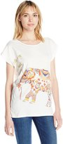 Desigual Women's Maine Knitted Short Sleeve T-Shirt, Raw, M